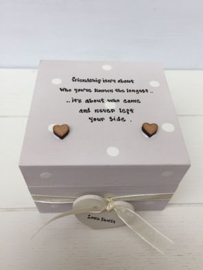 Shabby Personalised Chic Gift Special Best Friend Trinket Box Birthday Present - 232098159566
